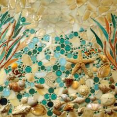 Kitchen Cabinet Knobs Ideas Comfort Mat Beach Mosaic Mural | Designer Glass Mosaics