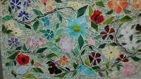 Mosaic Floral Backsplash | Designer Glass Mosaics