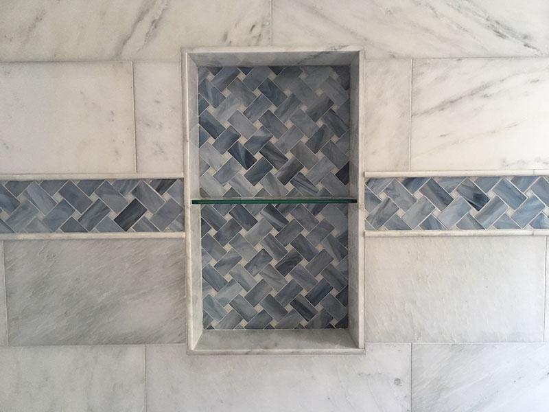Glass Border Tiles Diagonal Basketweave Designer Glass