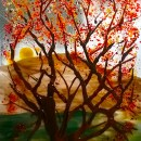 Fused Glass Fall Tree