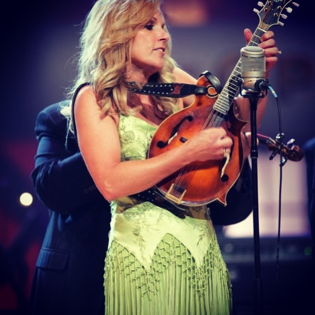 Designer Leatherworks History started with CT Music Straps who built this Swarovski Crystal Star Strap for Rhonda Vincent - American Bluegrass Girl tour