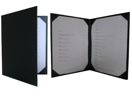 menu covers cut corners