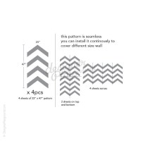 Affordable Chevron Pattern Wall Decal
