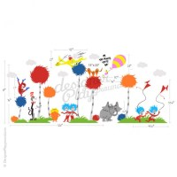 Cat in The Hat Dr Seuss Character Wall Decal