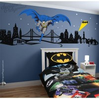 Affordable Batman with Cityscape Wall Decal