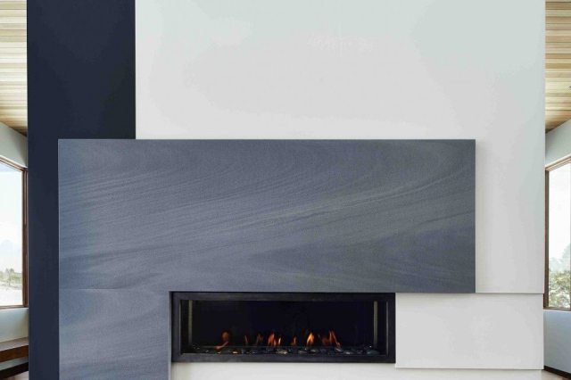 Fireplace made with Neolith