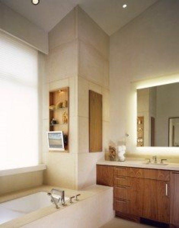 Bathroom Lighting Surrounding the Mirror