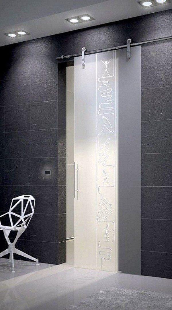 Frameless sliding glass door- LOVE IT!!