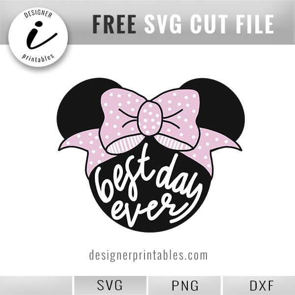 Download Free SVG: Disney Minnie Mouse