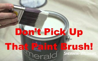 Don't pick up that Paintbrush yet!