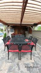 Outdoor dining room with pergola