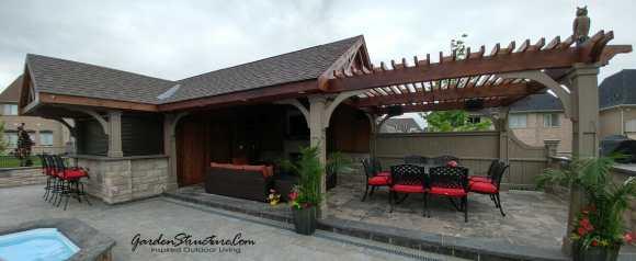 Cabana design with bar, den and dining