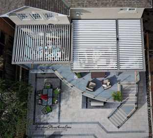 Overhead View Curved Decks