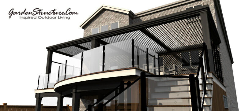 Modern deck design by designersdecks.com