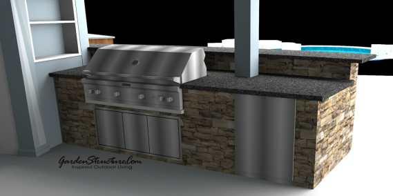 Outdoor kitchen design below deck
