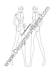 female template figure croqui templates figures croquis v17 portfolio woman sketches designers