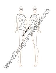female template side croqui quarter three figure v42 nexus