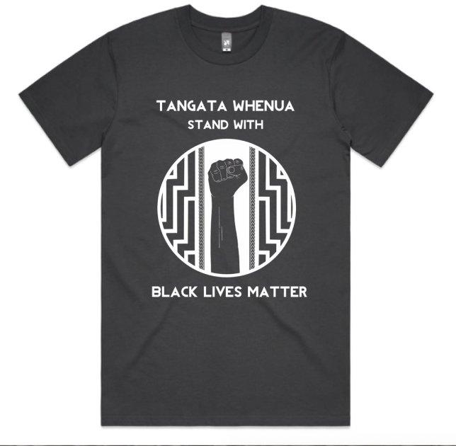 Huriana Kopeke-Te Aho / Tangata Whenua stand with Black Lives Matter T Shirt