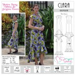 Clara Dress Sewing Pattern Pdf Designer Stitch