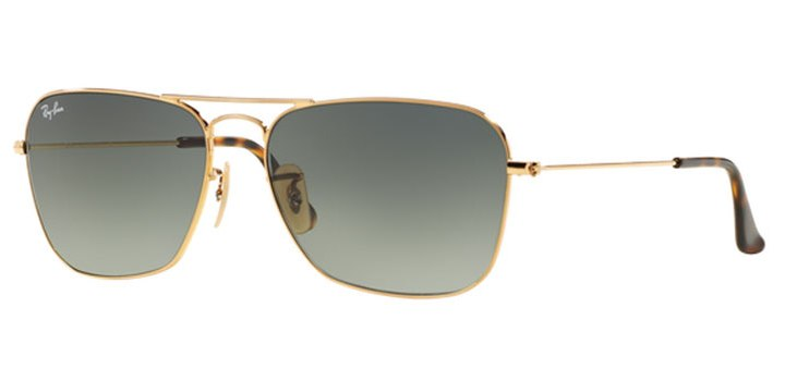 Ray Ban Caravan Sunglasses RB3136 181/71 Gold with Light Grey Gradient
