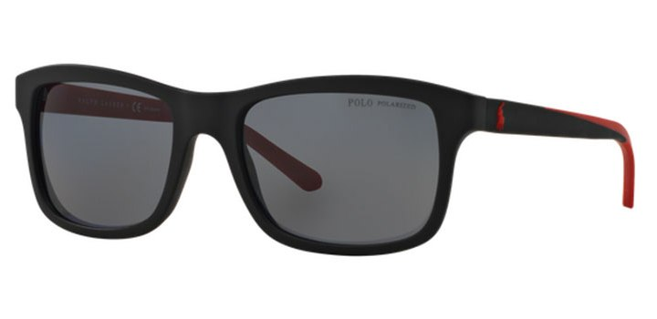 Polo Ralph Lauren Polarized Sunglasses PH4095 550481 Matte Black