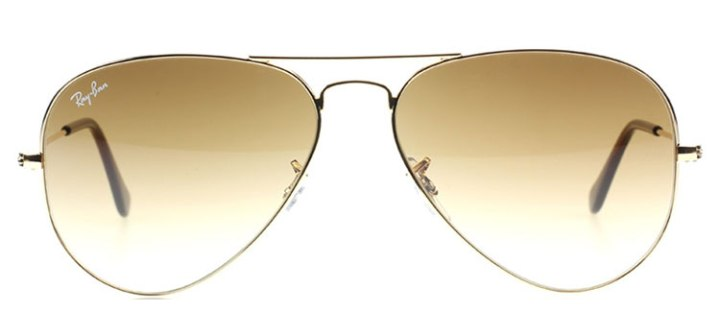 Ray Ban Large Aviator Sunglasses RB3025 001/51 Gold with Crystal Brown Gradient