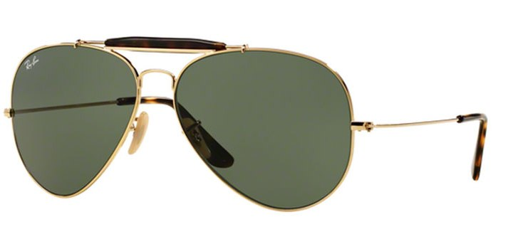 Ray Ban Outdoorsman II Sunglasses RB3029 181 Gold