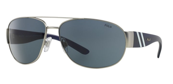 Polo Ralph Lauren Sunglasses PH3052 904687 Matte Silver