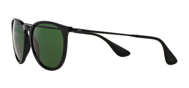 Ray Ban Erika Polarized Sunglasses RB4171 6012P Black