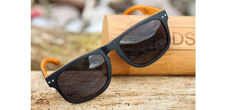 Black Layered Wood Polarized Sunglasses | DSUK Woods