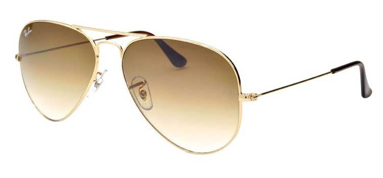 4b3937773c4 Ray Ban Large Aviator Sunglasses RB3025 001 51 Gold with Crystal Brown  Gradient