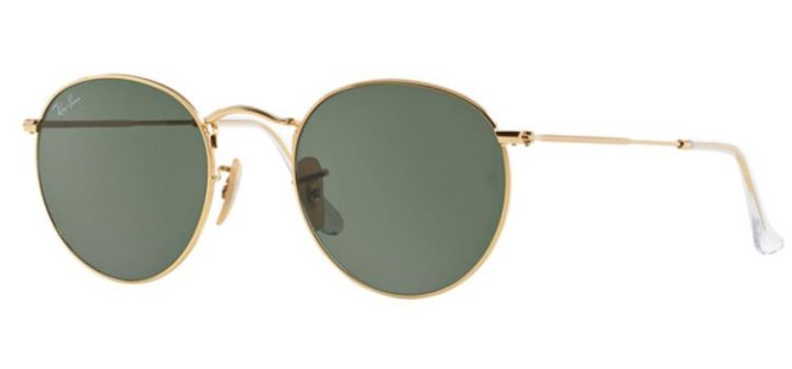 Ray Ban Round Metal Sunglasses RB3447 001