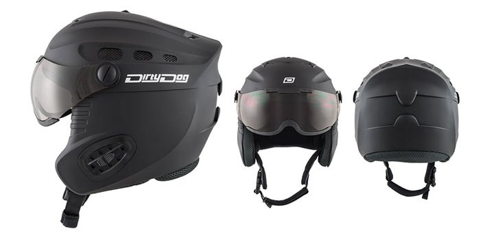 Dirty Dog Ski Helmet Apache 46259 | Matte Black