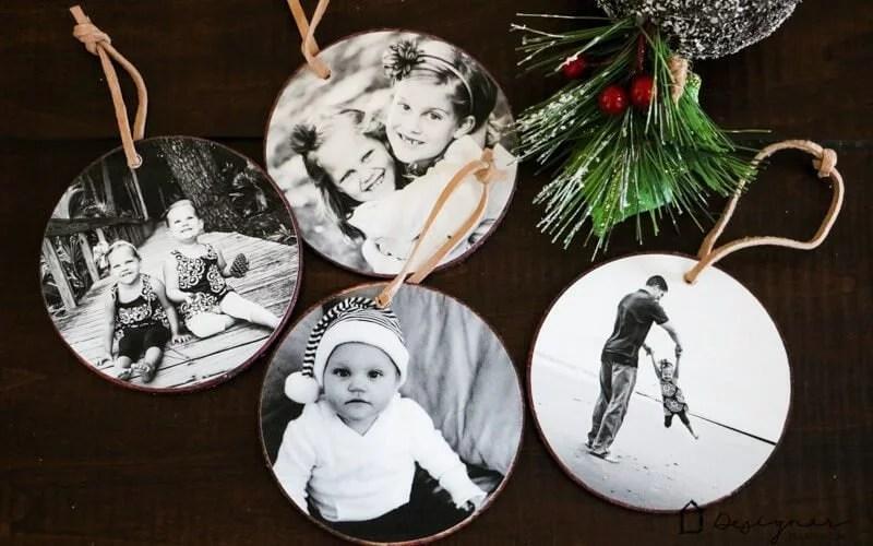 Diy Photo Christmas Ornaments Tutorial Designertrapped Com
