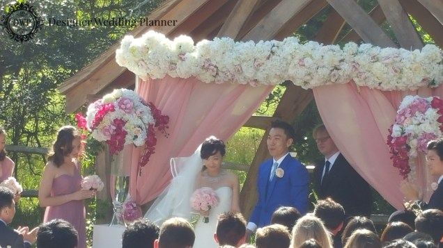 The Wedding Ceremony was delightful and moving