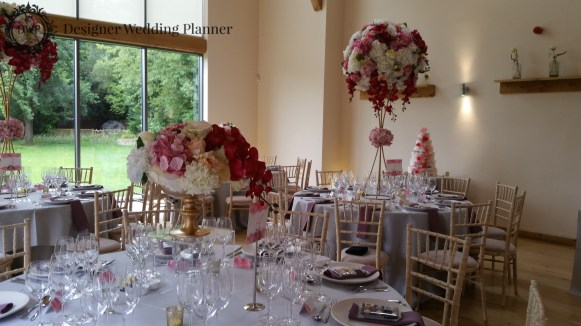 The Wedding Breakfast Room was set up Beautifully