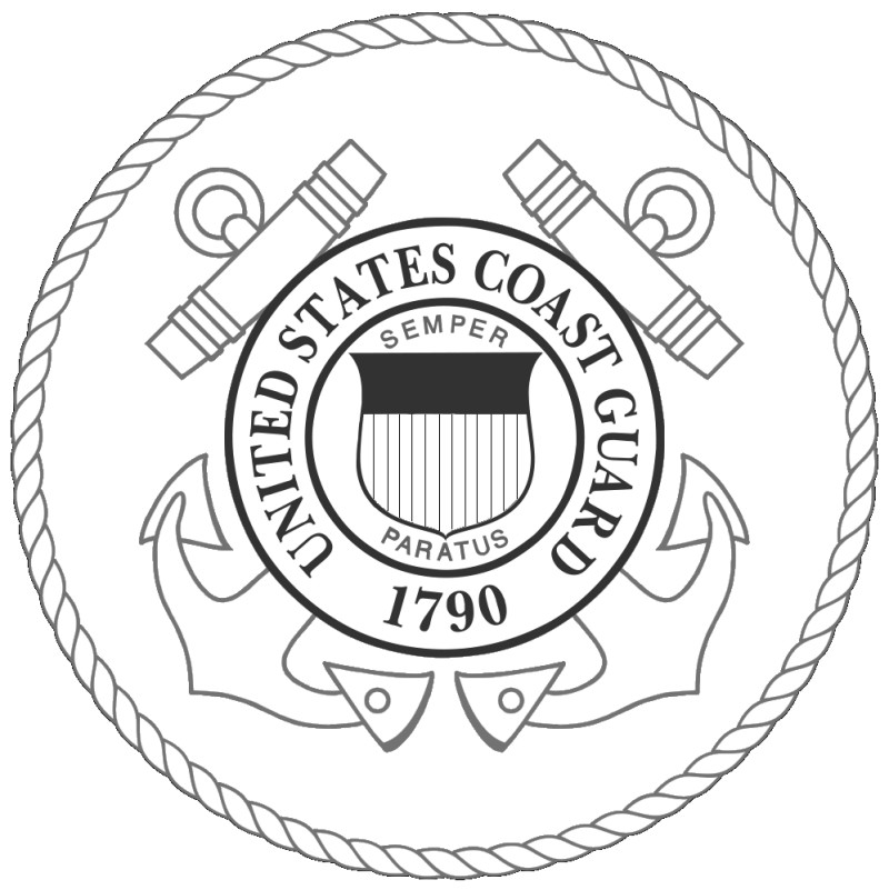 free printable coast guard logos & color book pages  8½ x 11
