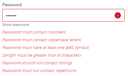 Password rules