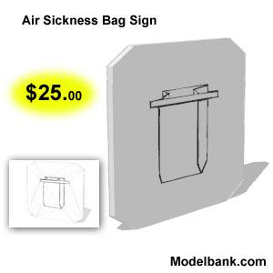 air sickness bag for $25