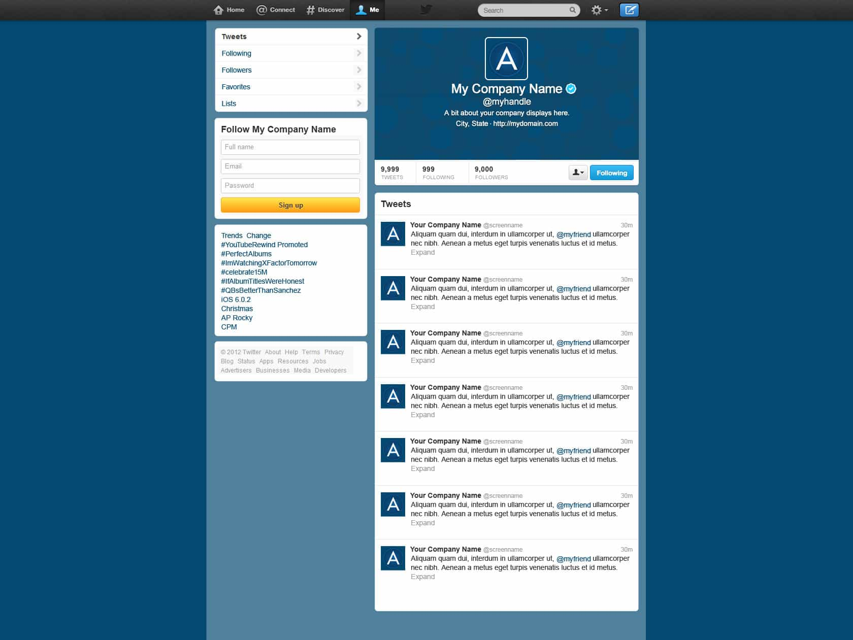 Adventos -- Small Business Twitter Layout