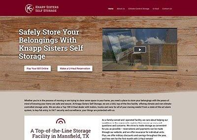 Knapp Sisters Self Storage Website