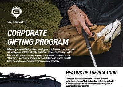 G-Tech Apparel Corporate Gifting Program One Sheeter