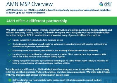 AMN MSP Program Brochure