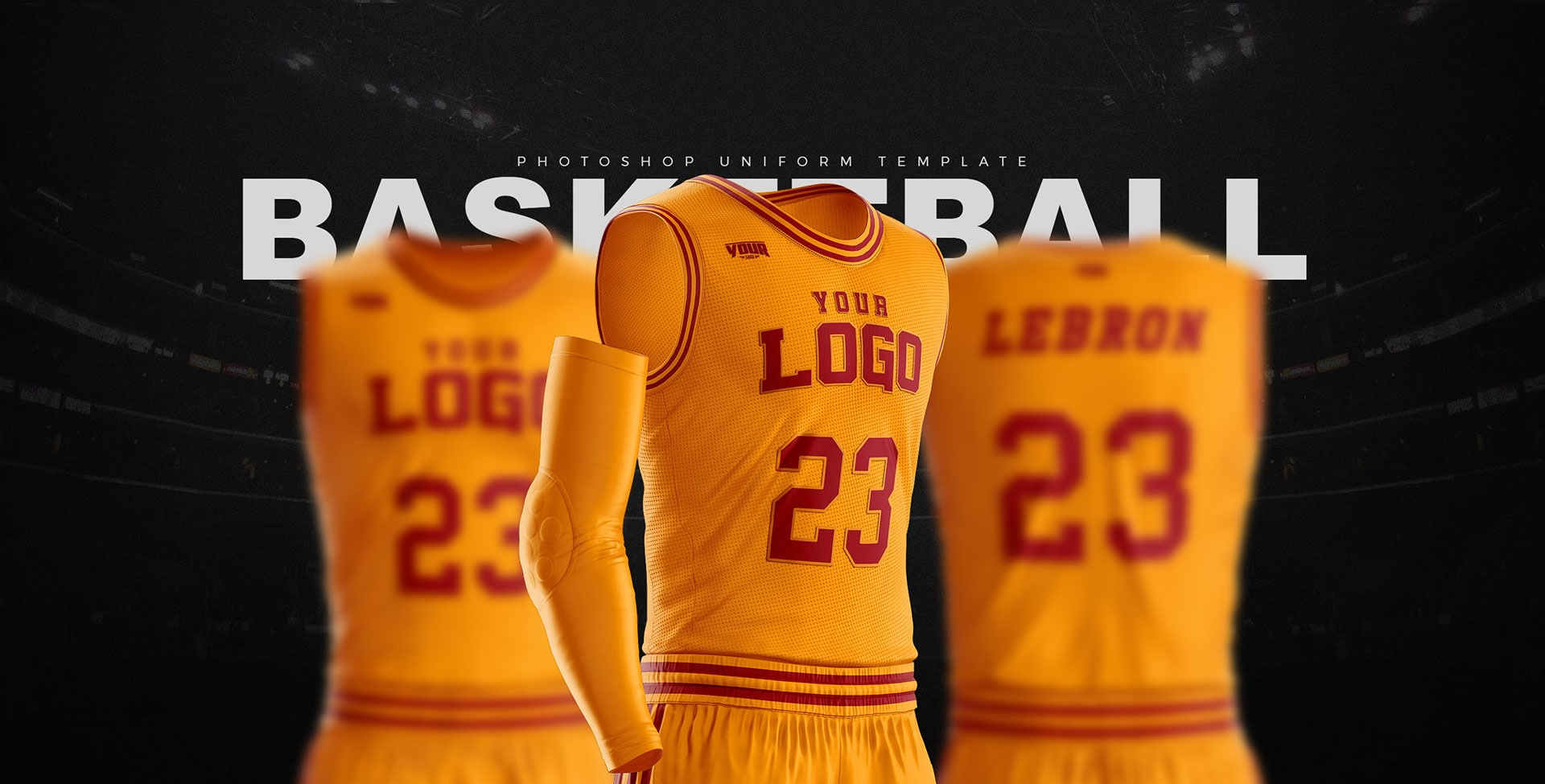 As well as 3 collar options, so you can bring your uniform concepts to life or make your uniform pitch more interesting and believable Basketball Uniform Jersey Mockup Freebie Designhooks