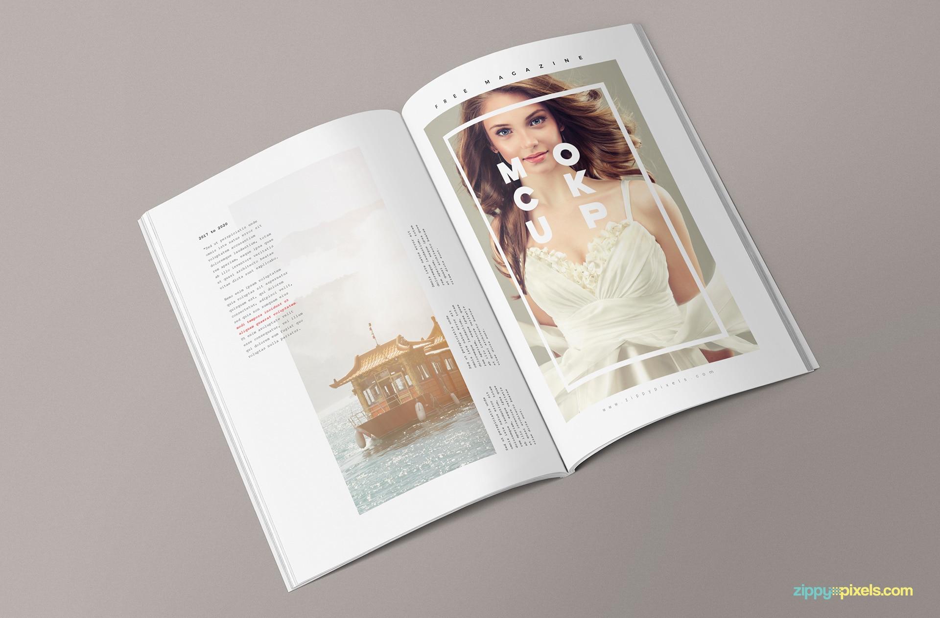 Creative PSD Magazine Mockup To Download For Free DesignHooks