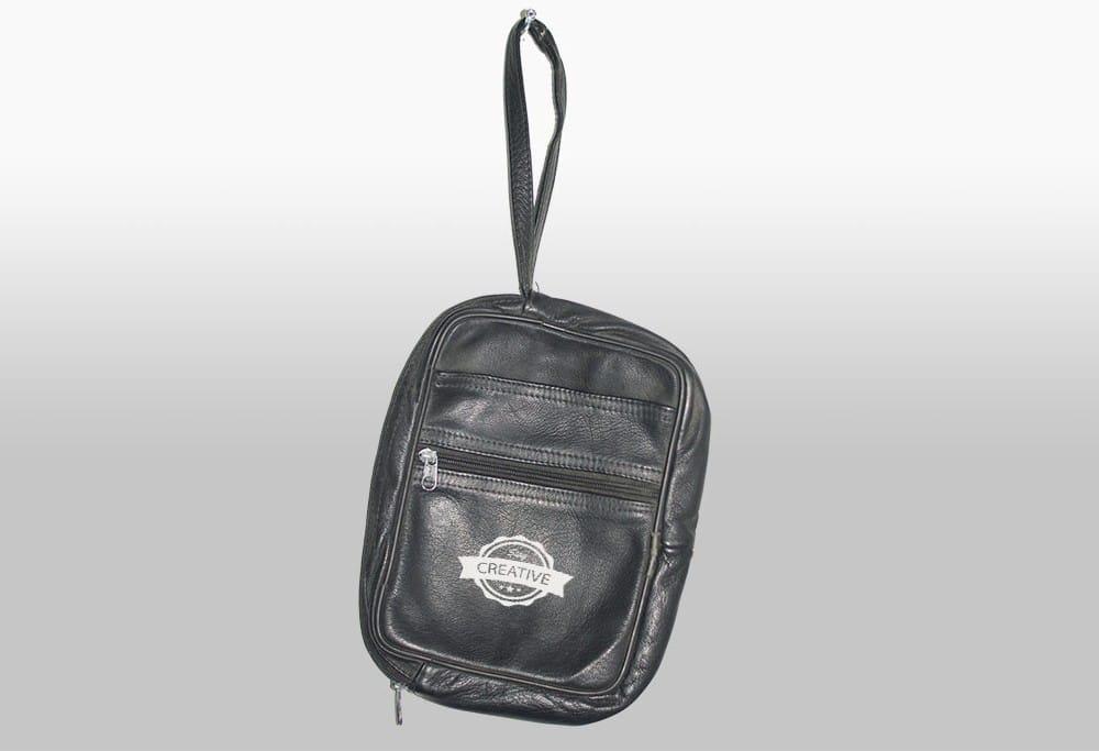 Debossed leather foil logo mockup to present your branding design in a photorealistic look. Customizable Leather Bag Mockup Freebie Designhooks