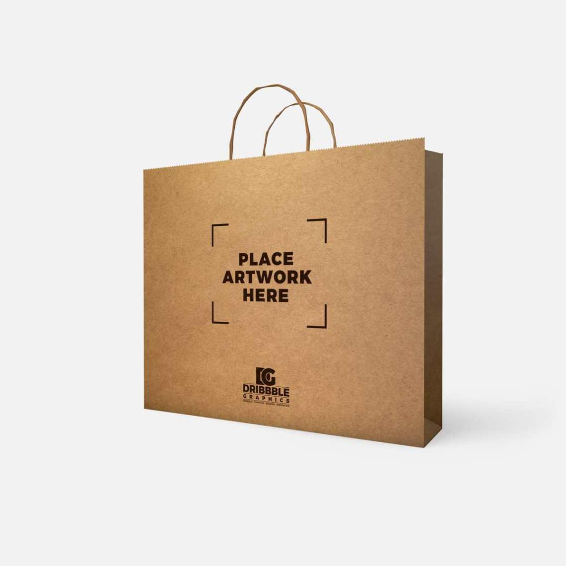 Download Paperbag PSD Mockup Free download - DesignHooks