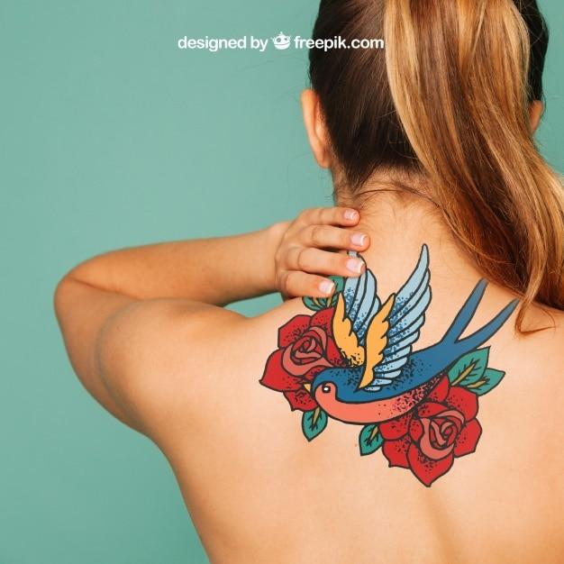 It's time to show them off! Awesome Back Tattoo Mockup Freebie Designhooks