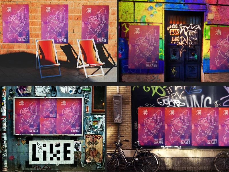 Dope work done by henry charpe. Free Urban Poster Scenes Mockup In Psd Designhooks