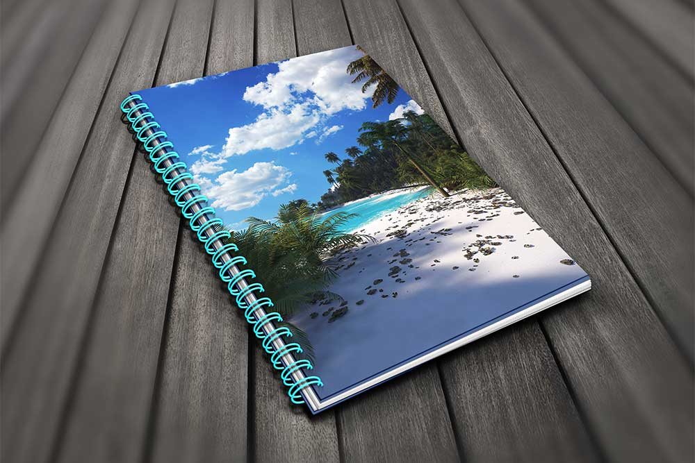 Download This Spiral Notebook Mockup Free PSD - Designhooks